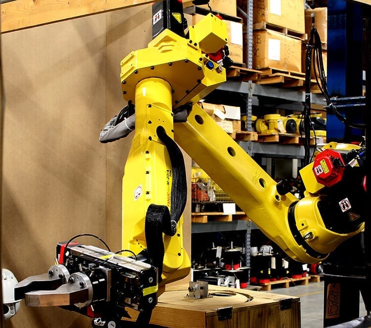 Used 6-axis Fanuc industrial robots for sale